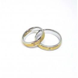 Abielusõrmus, mateeritud kullaga