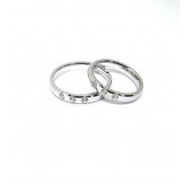 Abielusõrmus, 3 tsirkooniga