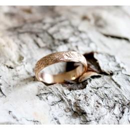 Abielusõrmus - mustriga 4.5mm