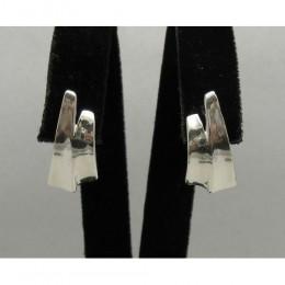 Hõbekõrvarõngad - laiad minimalistlikud