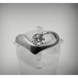 Kihlasõrmus - süda tsirkooniga 2