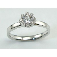 Engagement ring - sterling, with a cz