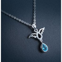 Sterling silver pedant - angel with cz