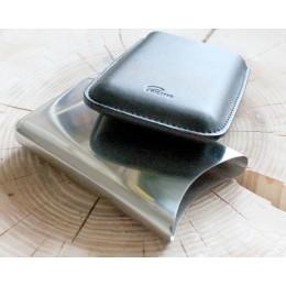 Kinkekarp - metallist karp nahkümbrisega