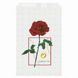 Kinkekott paberist roosiga