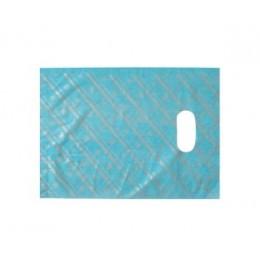 Pakkekotike - suur sinine hõbedaste triipudega