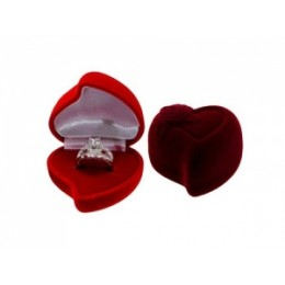 Kinkekarp - süda roosiga tumepunane