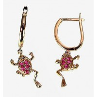 Gold earrings - frogs