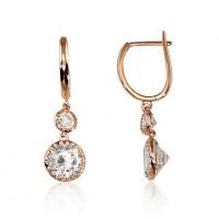 Solid gold earrings 14K - cz