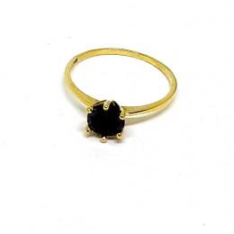 Kuldsõrmus - musta suure briljandiga