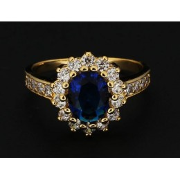 Sõrmus - Diana, sinine