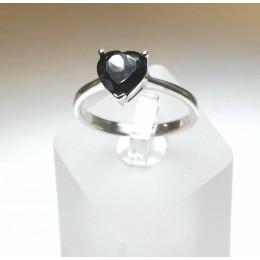 Kihlasõrmus - must tsirkoon