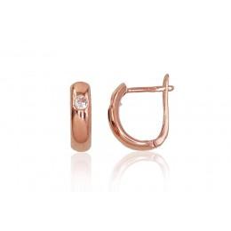 """""""Inglise"""" sulguriga kullast kõrvarõngad 1200005(Au-R)_CZ"""