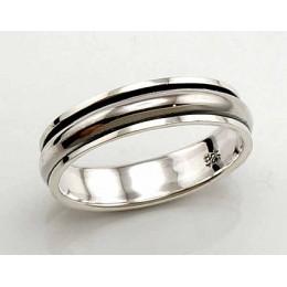 Hõbedast abielusõrmus 2100434(POX-BK)