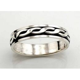 Hõbedast abielusõrmus 2100435(POX-BK)