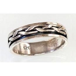 Hõbedast abielusõrmus 2100438(POX-BK)