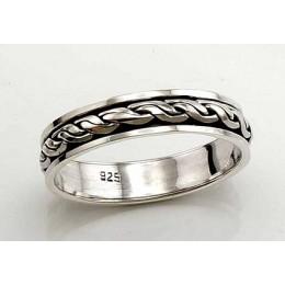 Hõbedast abielusõrmus 2100439(POX-BK)