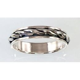 Hõbedast abielusõrmus 2100535(POX-BK)