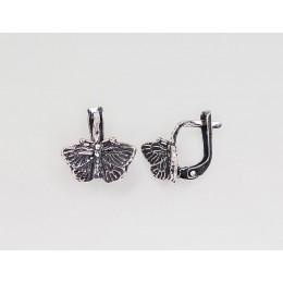'Inglise' sulguriga hõbekõrverõngad 2201080(POx-Bk)